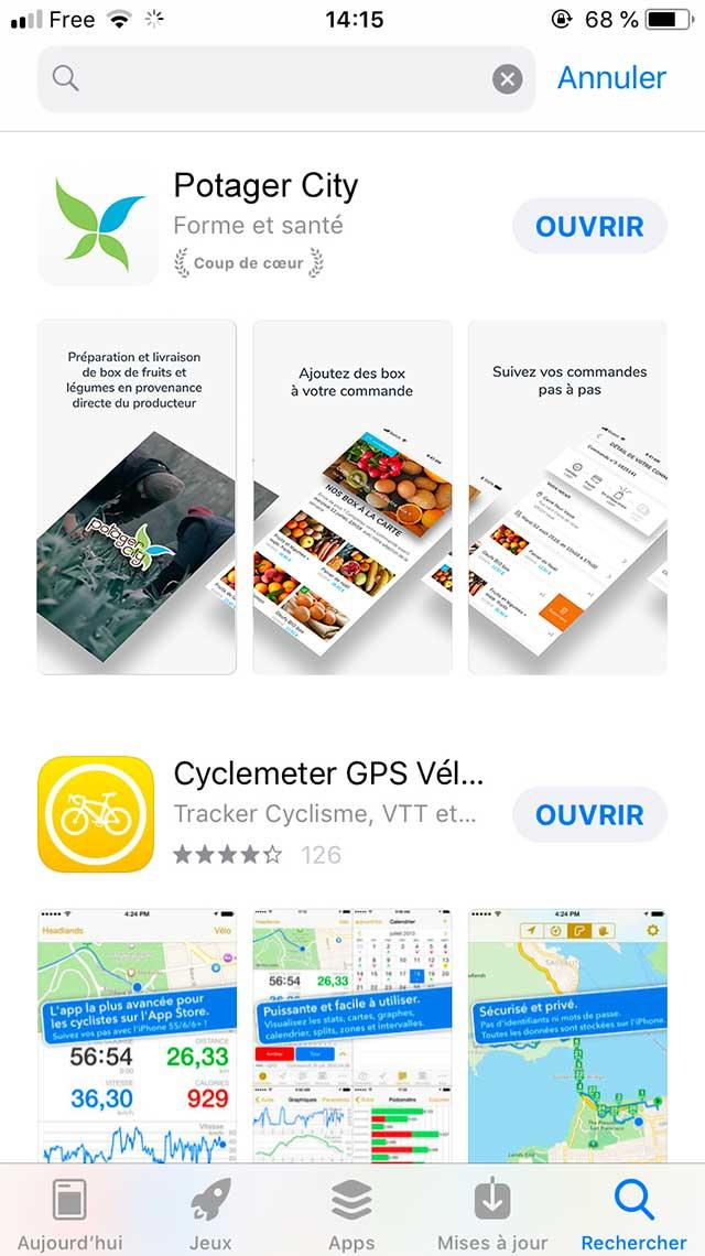Claudia Berger - Webdesign et design application smartphone - Potager City - apple store