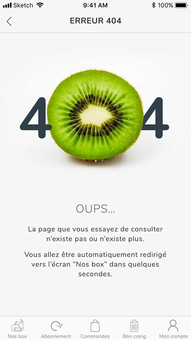 Claudia Berger - Webdesign et design application smartphone - Potager City - 404