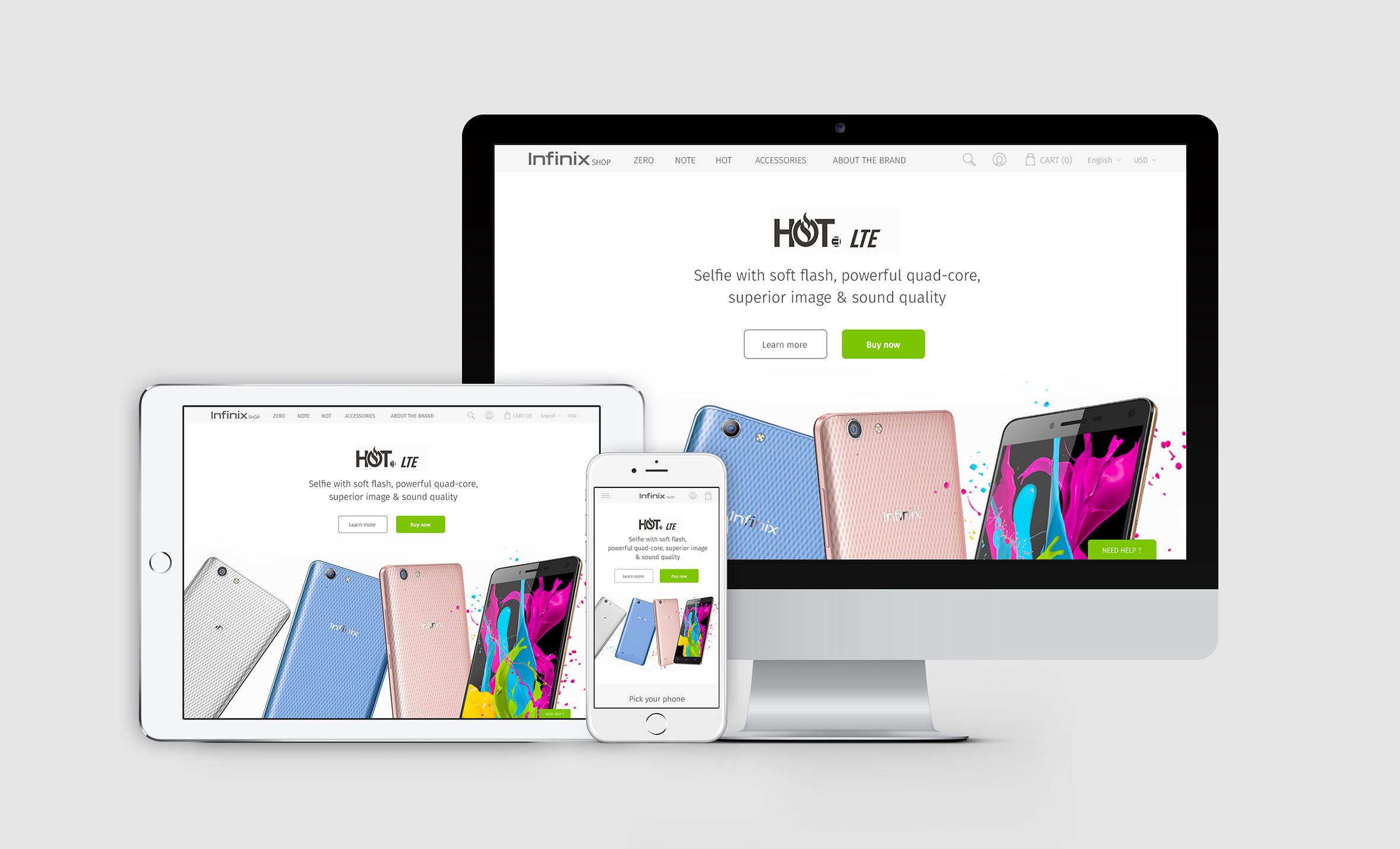 Claudia Berger - Webdesign - Infinix - responsive
