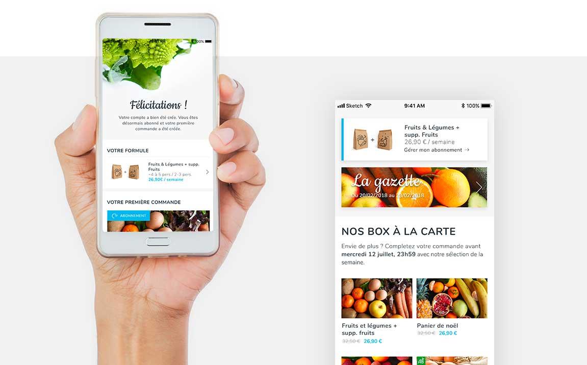 Claudia Berger - Webdesign et design application smartphone - Potager City - app