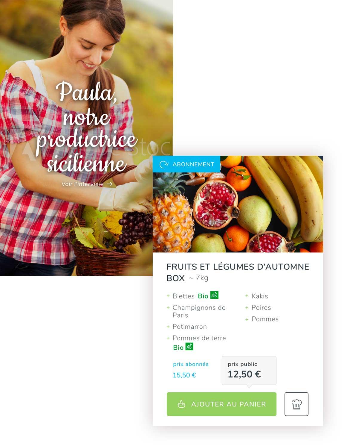 Claudia Berger - Webdesign et design application smartphone - Potager City - web