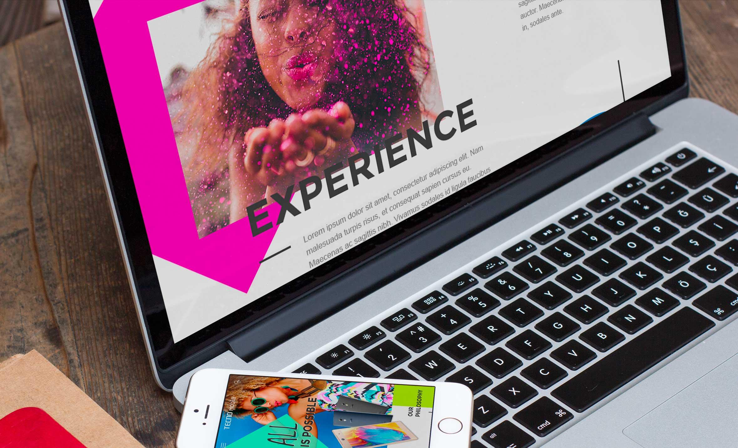 Claudia Berger - Webdesign - Tecno - mockup