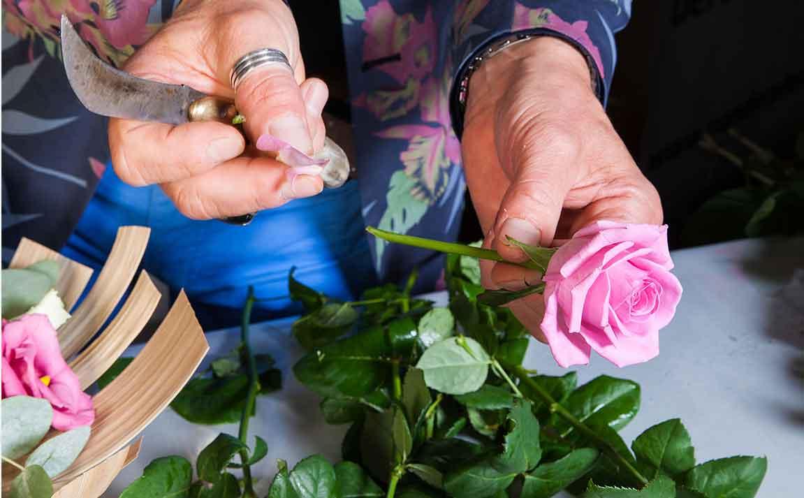 fleuriste rose interflora