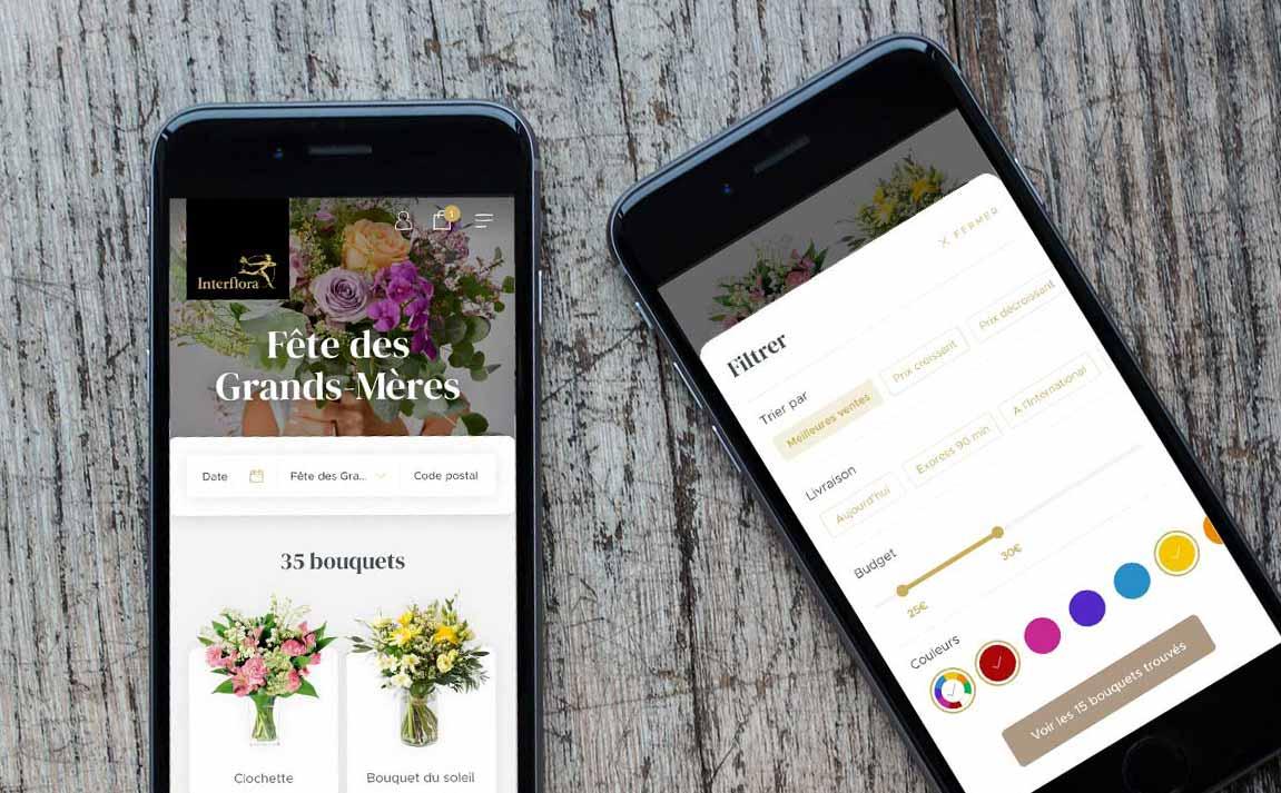 webdesign smartphone interflora