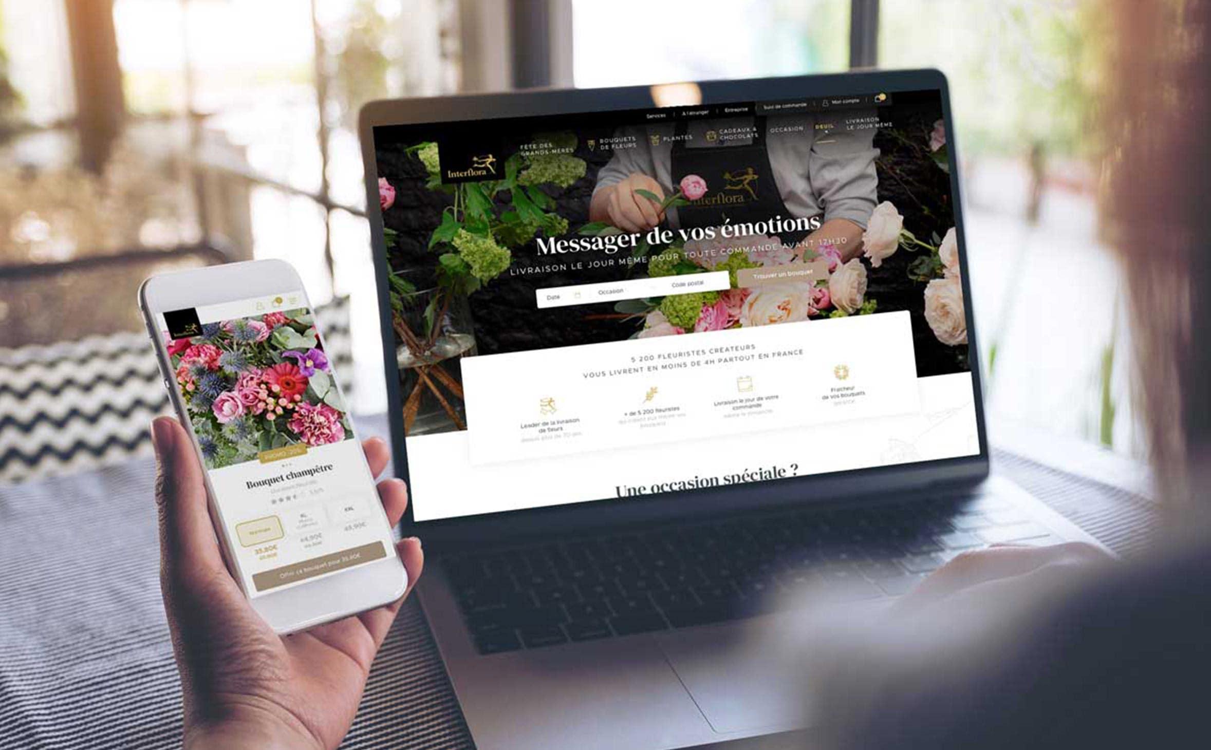 UI e-commerce interflora
