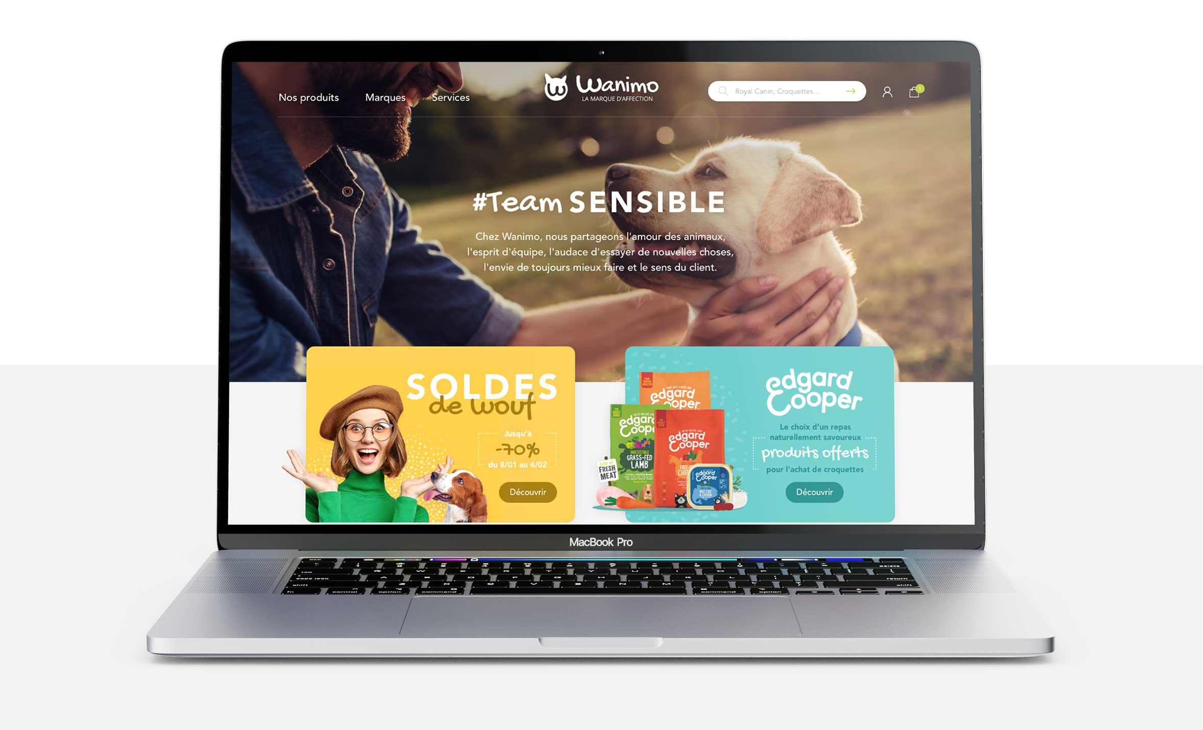 webdesign site wanimo